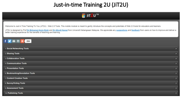 Just-in-time Training 2U (JiT2U) untuk capaian Pensyarah IPT Malaysia