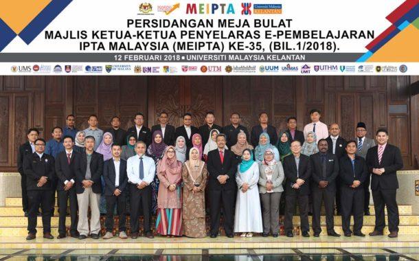 Persidangan Meja Bulat Majlis Ketua-Ketua Penyelaras E-Pembelajaran IPTA Malaysia (MEIPTA) Ke-35 (Bil. 1/2018)